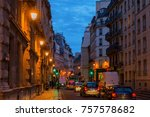 paris  france   october 15 ... | Shutterstock . vector #757578682