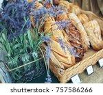artisanal bread fresh baked... | Shutterstock . vector #757586266