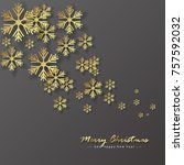 merry christmas background ... | Shutterstock .eps vector #757592032