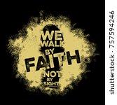 bible lettering. christian art. ...   Shutterstock .eps vector #757594246
