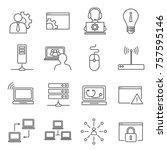 set of system administrator...   Shutterstock .eps vector #757595146