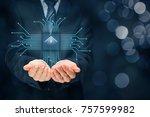 intelligent house  smart home... | Shutterstock . vector #757599982