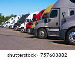 big rigs semi trucks of... | Shutterstock . vector #757603882