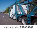 white big rig american...   Shutterstock . vector #757603942