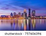 louisville  kentucky  usa...   Shutterstock . vector #757606396