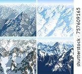 vector himalaya alps mountains...   Shutterstock .eps vector #757609165