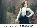 portrait of gorgeous young... | Shutterstock . vector #757610605