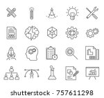 set of development related... | Shutterstock .eps vector #757611298