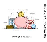 money saving  deposit... | Shutterstock .eps vector #757614448