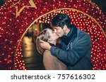 beautiful young couple in love...   Shutterstock . vector #757616302