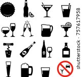 drinks and beverages icons | Shutterstock .eps vector #757617958