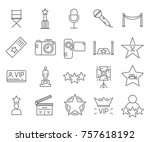 set of celebrity related vector ... | Shutterstock .eps vector #757618192