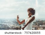 exquisite young african... | Shutterstock . vector #757620055