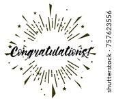 congratulations  beautiful... | Shutterstock .eps vector #757623556