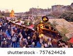 christmas markets in edinburgh  ...   Shutterstock . vector #757624426