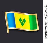flag of  saint vincent and the... | Shutterstock .eps vector #757626052