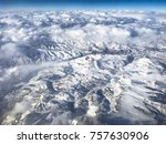 Aerial View Of Clouds And Snow...
