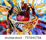 stained glass forever series.... | Shutterstock . vector #757641736