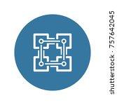 blockchain icon. modern... | Shutterstock .eps vector #757642045