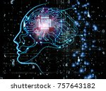 cpu mind series. background... | Shutterstock . vector #757643182