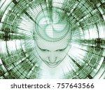 3d rendering   mind field... | Shutterstock . vector #757643566
