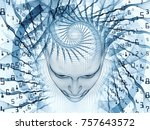 3d rendering   mind field... | Shutterstock . vector #757643572