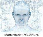 3d rendering   mind field... | Shutterstock . vector #757644076