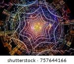 fractal swirl series. abstract... | Shutterstock . vector #757644166