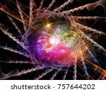 fractal swirl series. artistic... | Shutterstock . vector #757644202