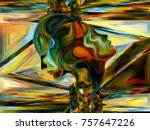 stained glass forever series.... | Shutterstock . vector #757647226