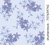 floral pattern in vector | Shutterstock .eps vector #757659742