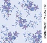 floral pattern in vector | Shutterstock .eps vector #757659742