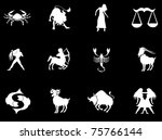 set of zodiac signs | Shutterstock .eps vector #75766144