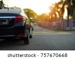 close up of car parking on... | Shutterstock . vector #757670668