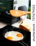 sprinkling salt and preparing... | Shutterstock . vector #757679332