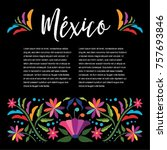 colorful mexican traditional... | Shutterstock .eps vector #757693846