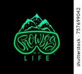 snowboard hand drawn lettering... | Shutterstock .eps vector #757699042