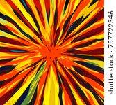 luxurious shining star radial... | Shutterstock .eps vector #757722346