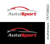 automotive car logo design with ... | Shutterstock .eps vector #757728022