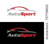 automotive car logo design with ... | Shutterstock .eps vector #757728022