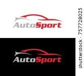 automotive car logo design with ... | Shutterstock .eps vector #757728025