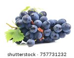 bunch of grapes on white... | Shutterstock . vector #757731232