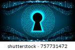safety concept  closed padlock... | Shutterstock .eps vector #757731472