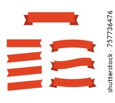 ribbons banners flat isolated.... | Shutterstock .eps vector #757736476