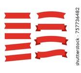 ribbons banners. decor vector... | Shutterstock .eps vector #757736482