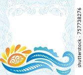 sea and sun. vector... | Shutterstock .eps vector #757738276