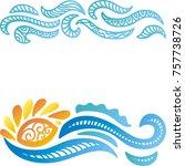 sea and sun. vector... | Shutterstock .eps vector #757738726
