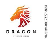 dragon logo template | Shutterstock .eps vector #757742848