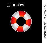 life ring  red  gray ... | Shutterstock .eps vector #757747822