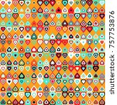 geometric pattern with colored... | Shutterstock .eps vector #757753876